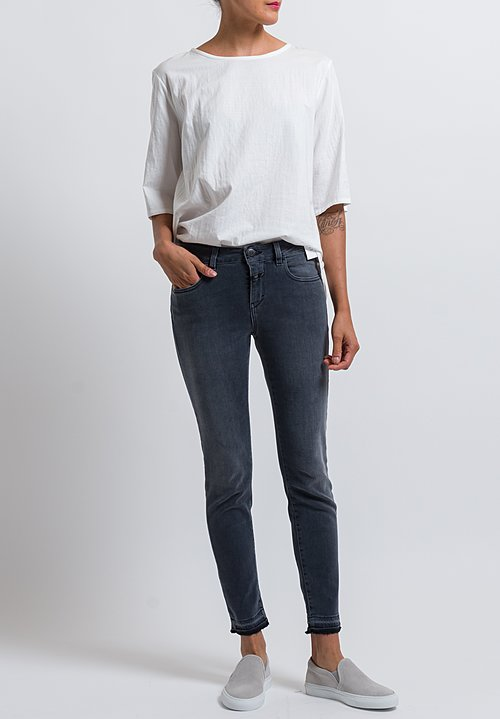 Closed Baker Cropped Distressed Hem Jeans in Open Hem