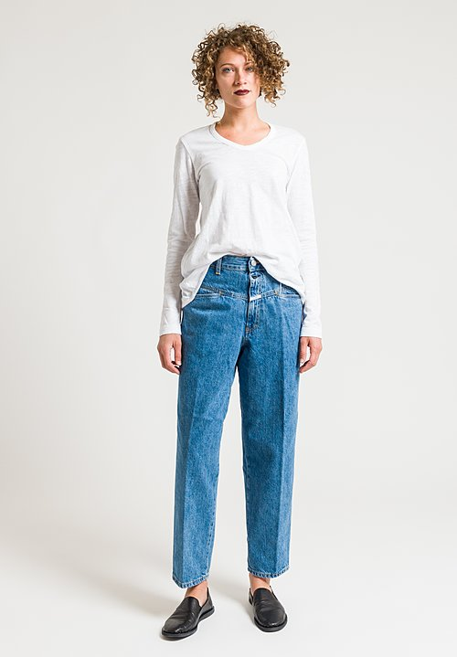 Closed Worker '85 High-Rise Jeans in Bright Blue