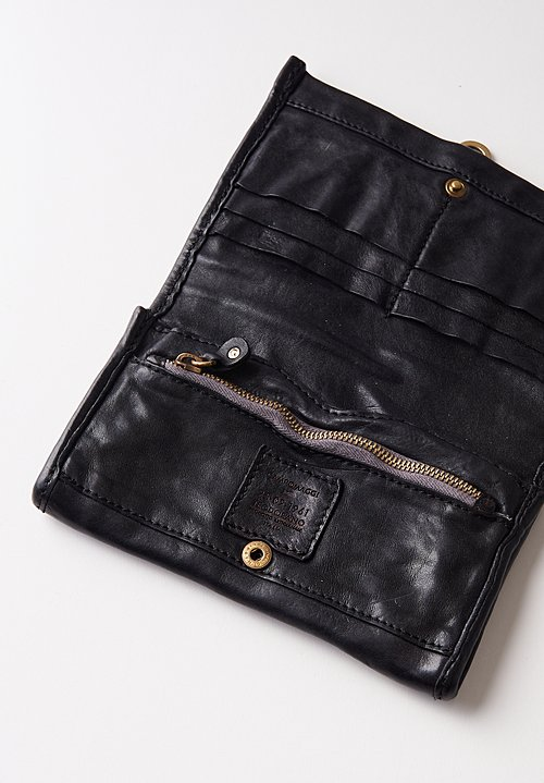 Campomaggi Leather Wallet in Black