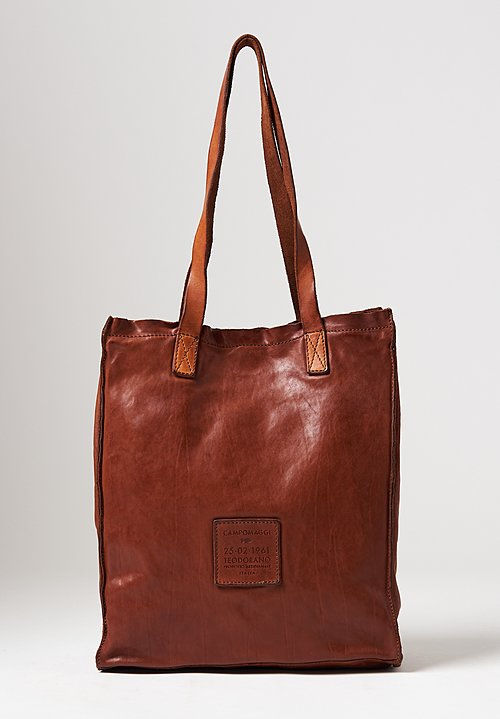 Campomaggi Shopping Tote in Cognac