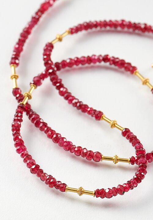 Greig Porter 18K, Short Spinel Ruby Necklace