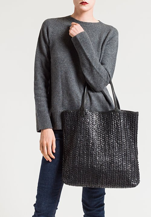 Massimo Palomba Giselle Antigua Tote in Black
