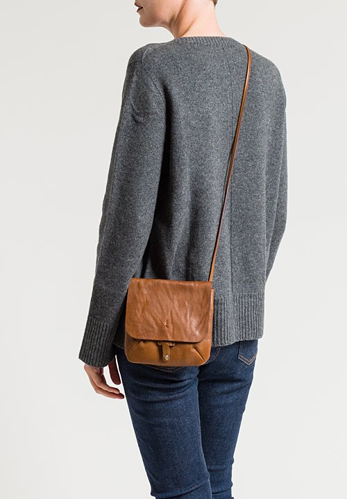 Massimo Palomba Lucy Tibet Cross Body Bag in Cognac