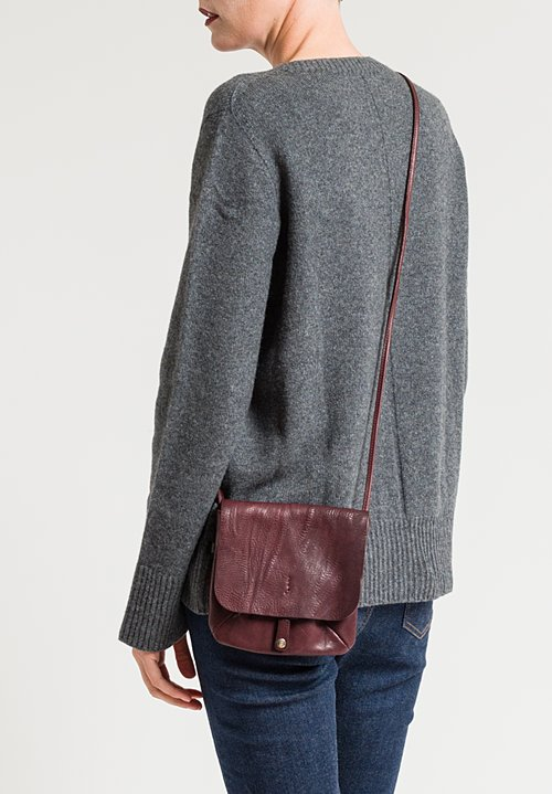 Massimo Palomba Lucy Tibet Cross Body Bag in Pomegranate