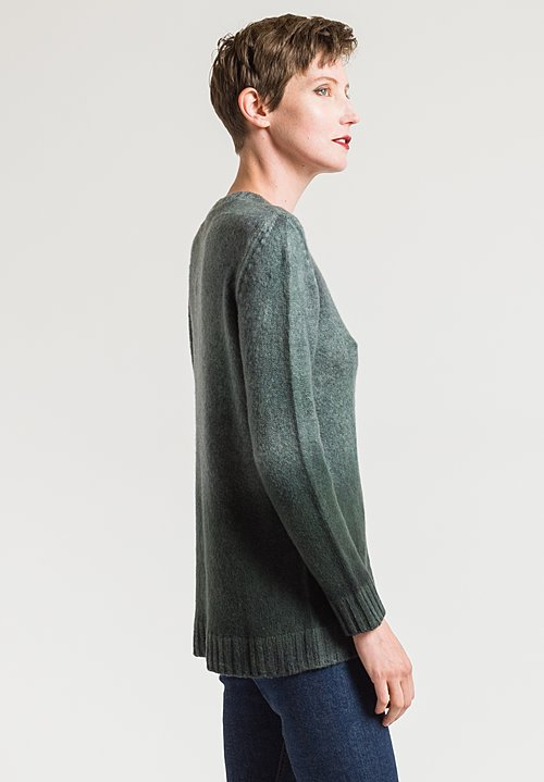 Avant Toi Ombre Dyed Sweater in Grey/ Black
