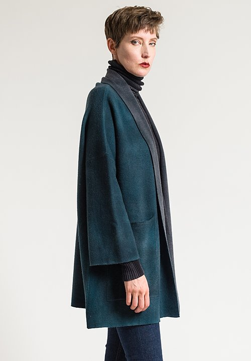 Avant Toi Oversized Square Duster in Turchese