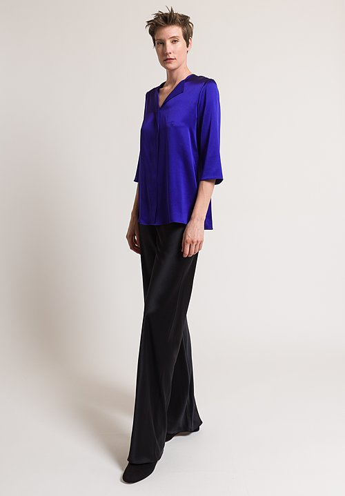Peter Cohen Satin Silk Blouse in Violet