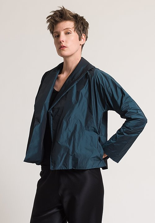 Peter Cohen Silk Taffeta Jacket in Blue