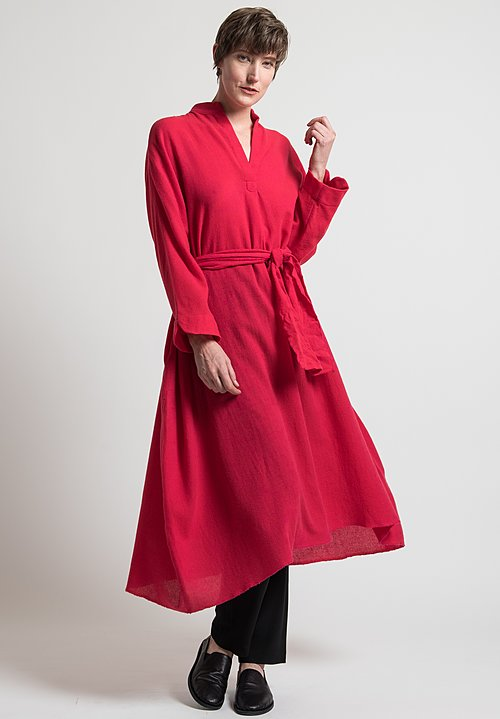 Daniela Gregis Melograno Dress in Cyclamen Red