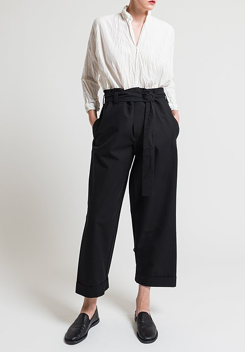 Daniela Gregis Cotton Twill Operaio Pants in Black
