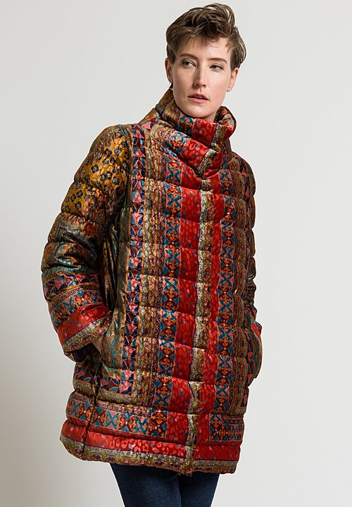 Etro Nouveau Down Coat in Red