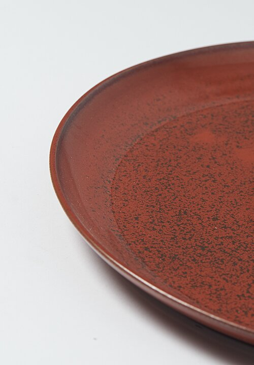 James & Tilla Waters Handmade Persimmon Stoneware Plate