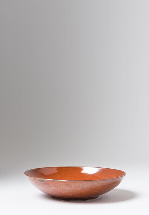 James & Tilla Waters Medium Handmade Persimmon Stoneware Bowl