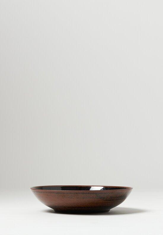 James & Tilla Waters Large Handmade Tenmoku Stoneware Bowl