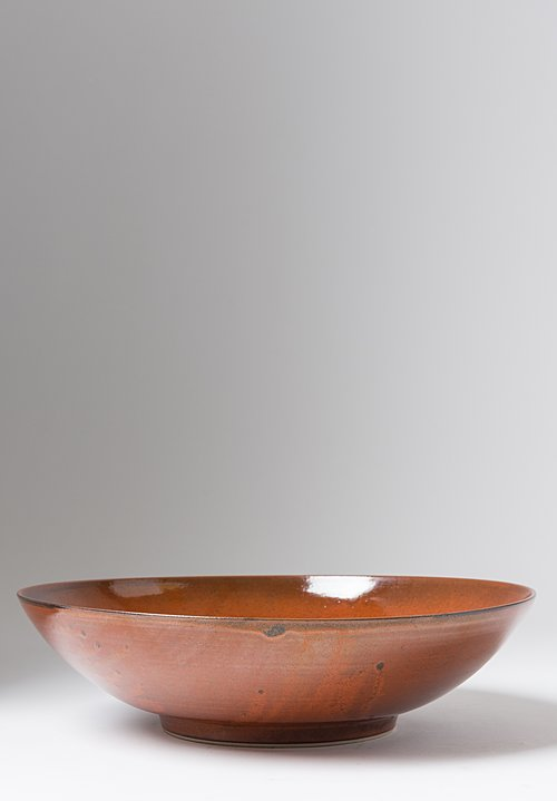James & Tilla Waters Handmade Persimmon Stoneware Serving Bowl