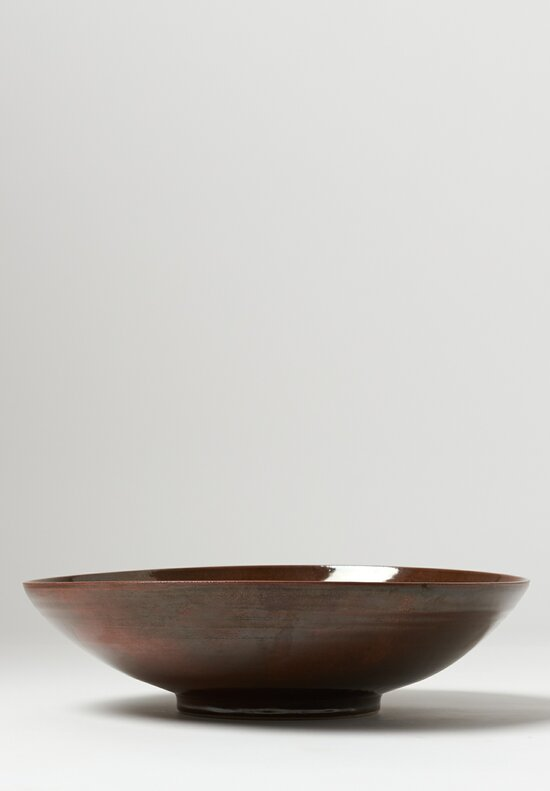 James & Tilla Waters Stoneware Serving Bowl Brown