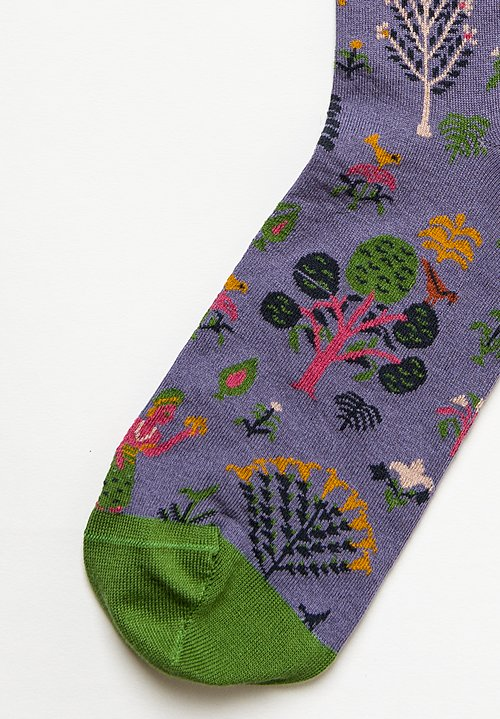 Bonne Maison Cotton Printed Mid-Low Socks