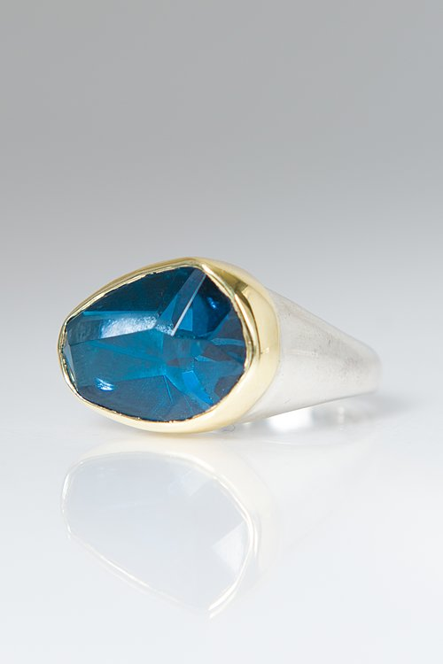 Margoni Sterling London Blue Topaz Ring