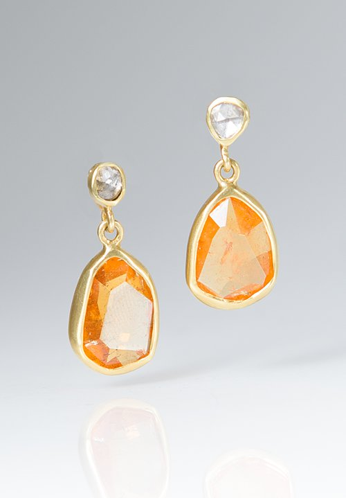 Margoni Diamond Mandarin Garnet Earrings