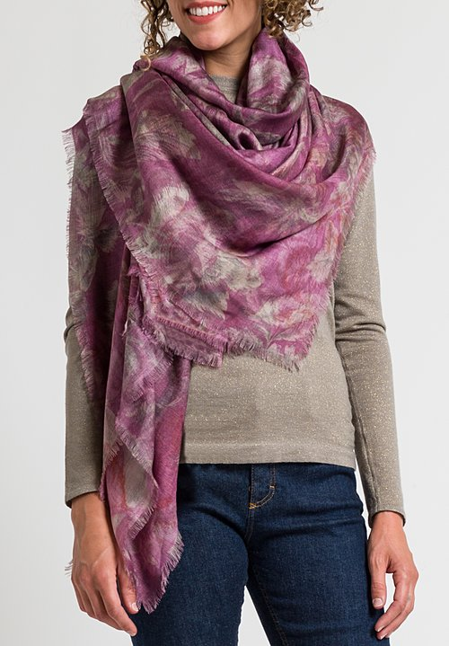 Alonpi Printed Scarf in Kurt Rose