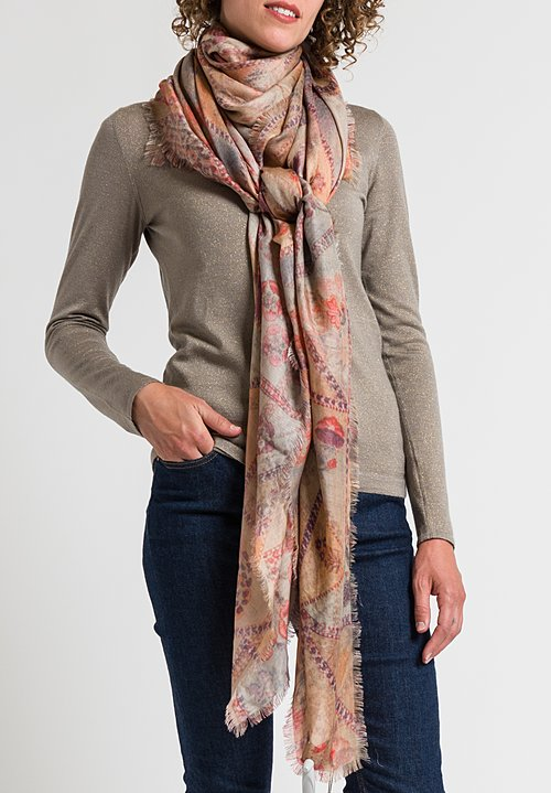 Alonpi Printed Scarf in Paco Pink