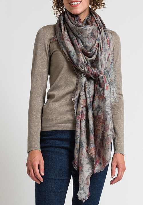 Alonpi Printed Scarf in Guip Grey