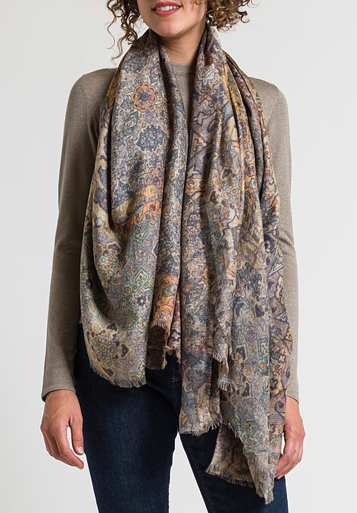 Alonpi Printed Scarf in Roksan Brown