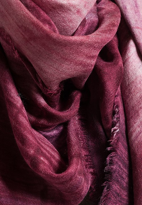 Alonpi Lotus Printed Scarf in Pink