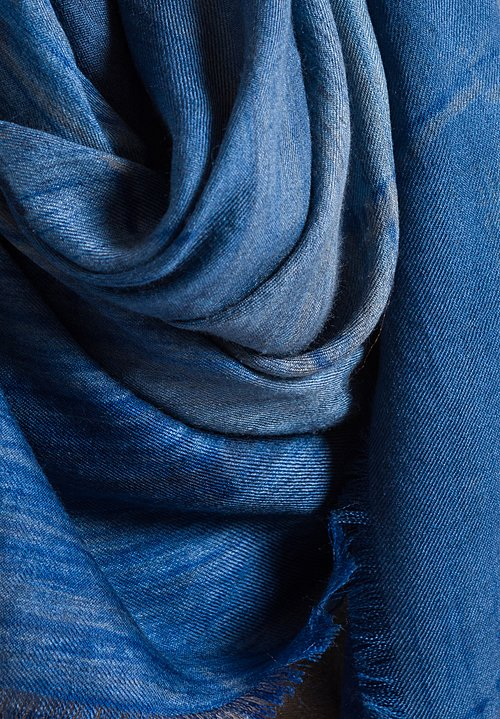 Alonpi Lotus Printed Scarf in Blue
