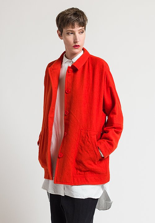 Casey Casey Virgin Wool Higa Jacket in Orange