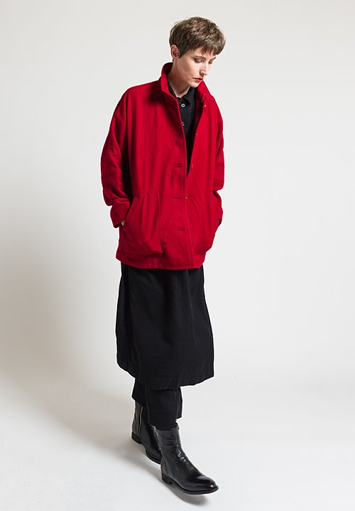 Casey Casey Virgin Wool Higa Jacket in Red