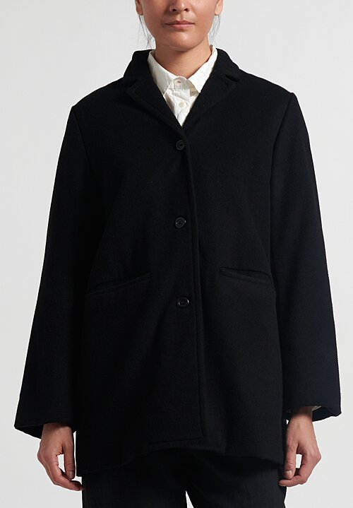 Casey Casey Travel Coat in Black