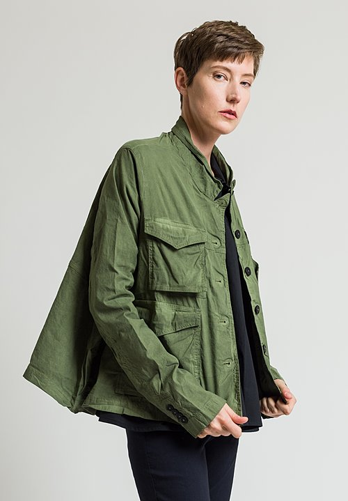 Rundholz Dip Stand Collar Jacket in Green