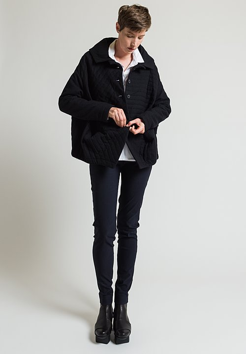 Rundholz Quilted Coat in Black