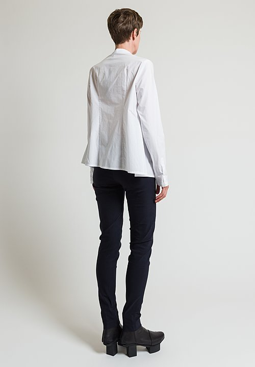Rundholz Front Pleated Shirt in White