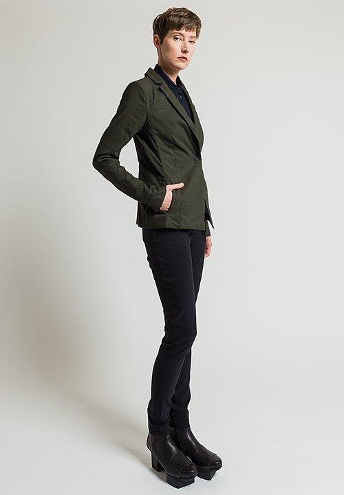 Rundholz Single Button Blazer in Olive