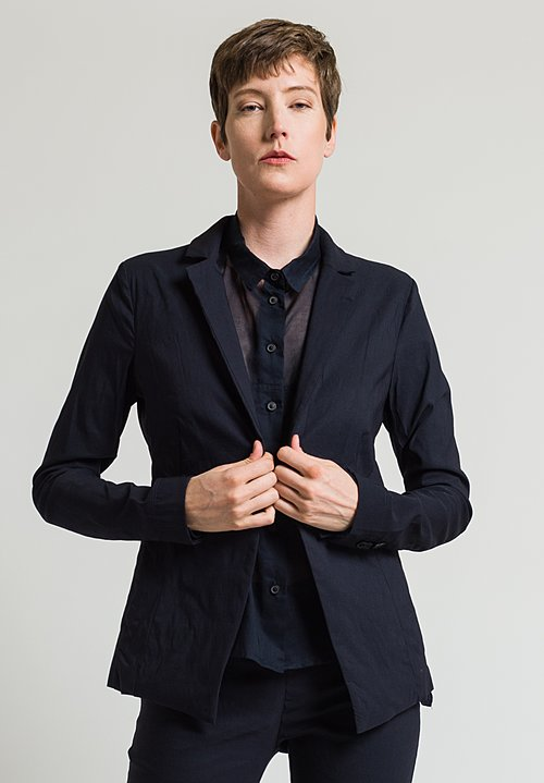 Rundholz Single Button Blazer in Dark Blue