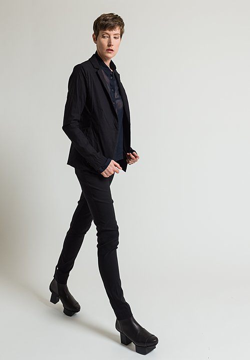 Rundholz Single Button Blazer in Black