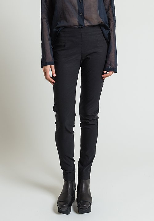 Rundholz Pull-On Skinny Leg Pants in Black