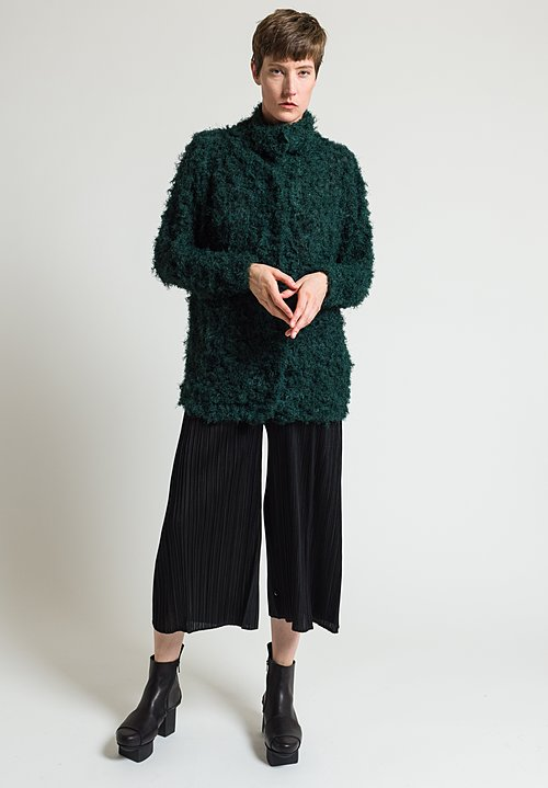 Issey Miyake Shaggy Crush Jacket in Forest