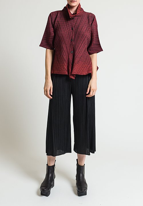 Issey Miyake Pleats Please Wide Leg August Pants in Black