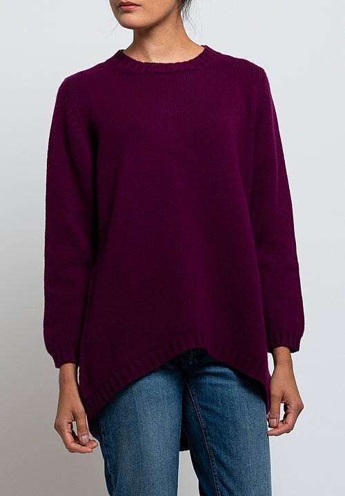 Hania Tatiana Crew Neck Sweater in Beetroot