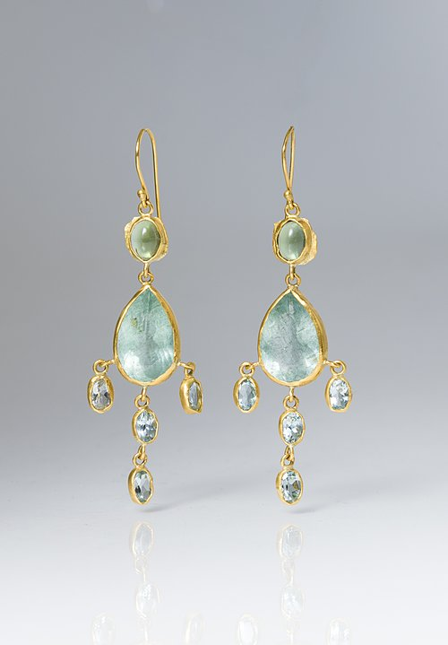 Margery Hirschey Aquamarine Dangle Earrings