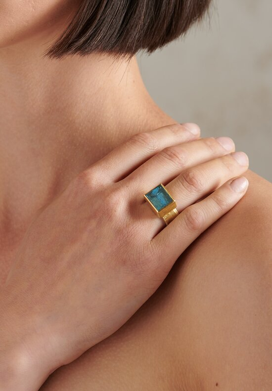 Disa Allsopp 18K, Mirror Cut Aqua Ring