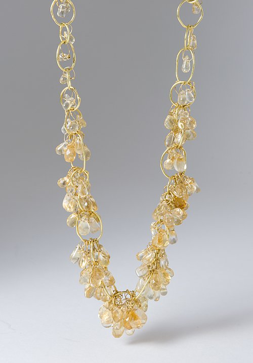 Disa Allsopp 18K, Citrine Chain Necklace