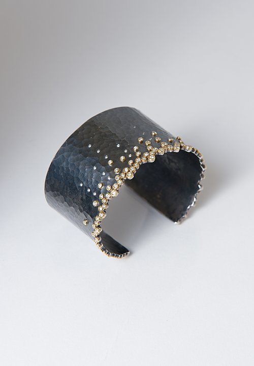 Annie Fensterstock Hammered Diamond Cuff