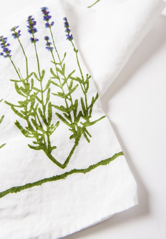 Bertozzi Handmade Linen  Kitchen Towel with Lavendar
