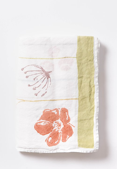 Bertozzi Handmade Linen Tablecloth with Wildflowers