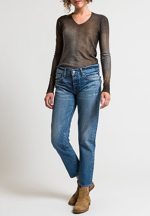 Moussy MV Vienna Tapered Leg Jeans in Blue