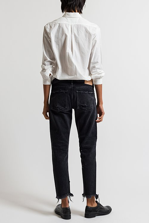 Moussy MV Kelley Tapered Leg Jeans in Black